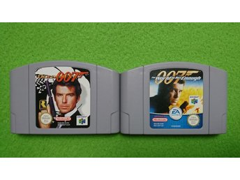 2-pack 007 GoldenEye 64 + 007 The World is Not Enough N64 Nintendo 64 golden eye