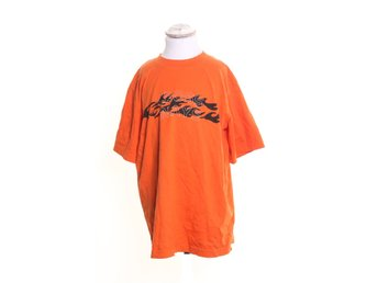 Crossways by Lindex, T-shirt, Strl: 158, Orange/Svart