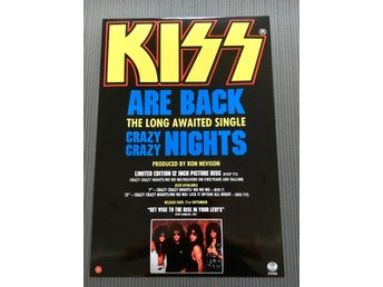 KISS CRAZY CRACY NIGHTS 1987 PHOTO POSTER