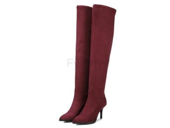 Dam Boots All Match Westrn Style Women Boots Wine Red 42