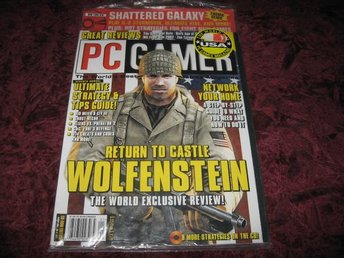 PC GAMER JANUARI 2002 (STOR STRATEGY OCH TIPS GUIDE) DEMO-SHATTERED GALAXY -NY