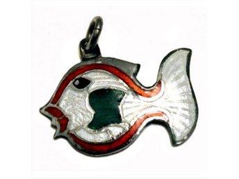 Berlock, äkta silver: Fisk - Skövde - Berlock, äkta silver: Fisk - Skövde