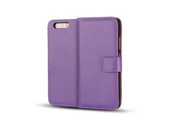 Huawei P10 genuine split leather flip case - Purple