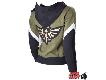 Nintendo Zelda Twilight Princess Tjej Hoodie Grön & Svart (Medium)