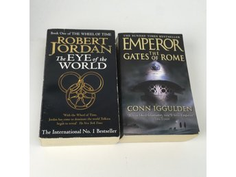 Pocketböcker, 2st, The Eye Of The World, Emperor The Gates Of Rome