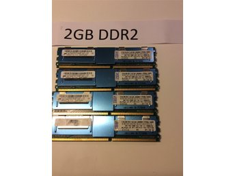 Server minne 2GB DDR2 4st total 8 GB