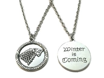 Halsband Winter is coming Game Of Thrones House Stark - Kedja