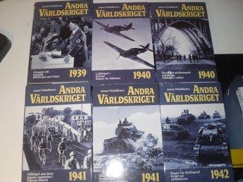 ANDRA VÄRLDSKRIGET 18 Böcker - Lilla Edet - ANDRA VÄRLDSKRIGET 18 Böcker - Lilla Edet