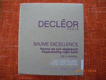 DECLÈOR BAUME EXCELLENCE Regenerating night balm 30ml - åkersberga - Decleor Baume Excellence Regenerating Night Balm Passar: Mogenhy 100 % naturligt aromatiskt nattbalsam som stärker huden och motverkar ålderstecken. Med djupverkande växtessenser från bl a iris, som effektivt minskar och förebygger rynk - åkersberga