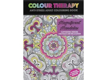 Colour Therapy Anti-Stress Målarbok 64s. Mandala, Relax.