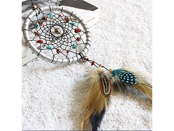 Silver Dream Catcher Feathers Core Bead Dream catcher for Wall Car Decorations D