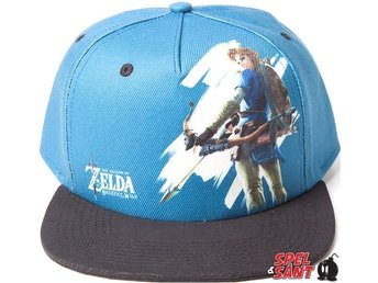 Nintendo Zelda Breath of The Wild Link With Bow Snapback Keps Blå