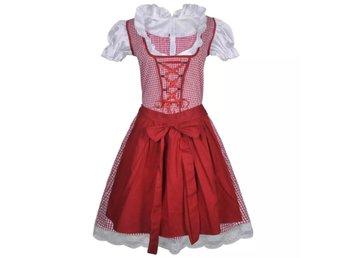 a1608fc9c602 Röd Dirndl med Förkläde till Oktoberfest M / L (321176546) ᐈ vidaXL ...