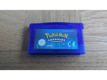 GBA / Gameboy Advance: Pokemon Sapphire (NYTT BATTERI)