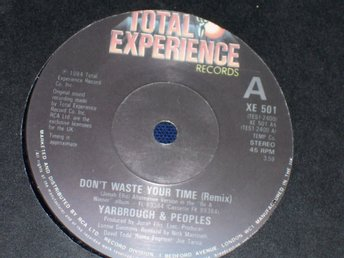 "YARBROUGH & PEOPLES - DON´T WASTE YOUR TIME 7"" 1984"