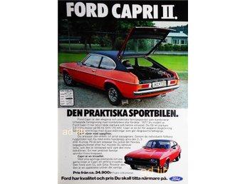 FORD CAPRI II TIDNINGSANNONS Retro 1977 - öckerö - FORD CAPRI II TIDNINGSANNONS Retro 1977 - öckerö