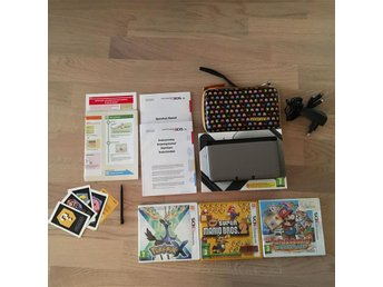 Nintendo 3DS XL (Paket: Pokemon X, New Super Mario Bros 2, Paper Mario Sticker)