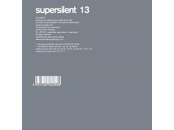 Supersilent: 13 (CD) - Nossebro - Supersilent: 13 (CD) - Nossebro