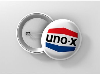 Uno-X Pin / Knapp / Badge Stor 57mm