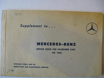1960 Mercedes-Benz Service Book