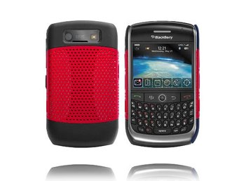 Gamma Shield (Röd) BlackBerry Curve 8900/9300 Skal