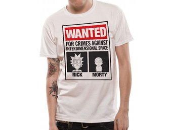 RICK AND MORTY - WANTED (UNISEX) - T-Shirt - Medium
