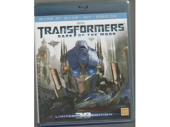 BLU - RAY - 3D - TRANSFORMERS - DARK OF THE MOON - LIMITED EDITION