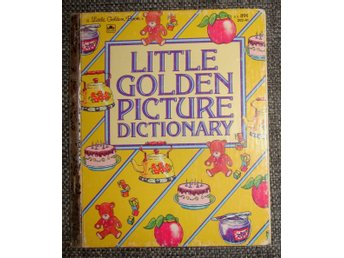 LITTLE GOLDEN PICTURE DICTIONARY I MKT GOTT SKICK ABC PÅ ENGELSKA ENGLISH