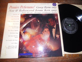 GEORGE BYRON /A Previn - sings new Jerome Kern Songs, LP Atlantic 1293, USA 1958
