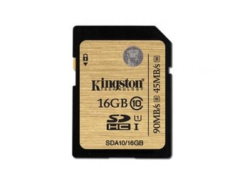 Kingston SDA10 / 16GB minneskort SDHC-kort 16GB Class 10 UHS-I Ultimate