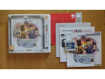 Nintendo 3DS: Professor Layton vs Ace Attorney Phoenix Wright