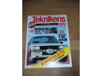 Teknikens Värld nr 12, 1981, Lancer Turbo, Chevy Van, Ford
