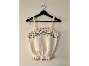 White embroidered top from & Other Stories, Paris Atelier, size 34