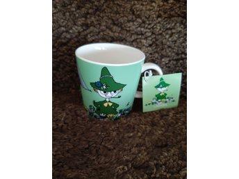 Muminmugg: Snusmumriken grön