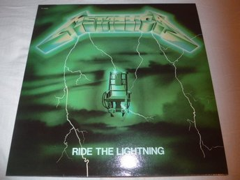 Metallica - Ride the lightning  - LP - Green cover - Röd vinyl