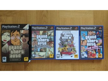 PlayStation 2/PS2: Grand Theft Auto GTA Trilogy San Andreas III 3 Vice City