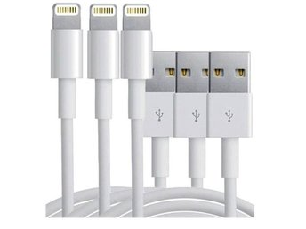 iPhone laddare (endast USB) 3-pack