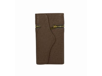 Zipper wallet case - iPhone i6, Brun