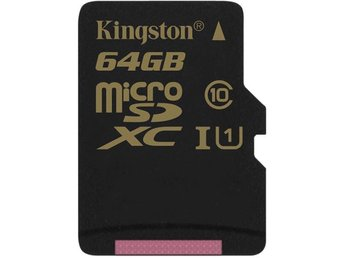 Kingston 64GB microSDXC CL10 UHS-I 90R/45W Single Pack w/o Adapter