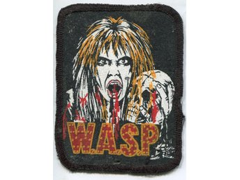 Wasp  -Blackie Lawless  patch / tymgärke ORIGINAL 80-tal