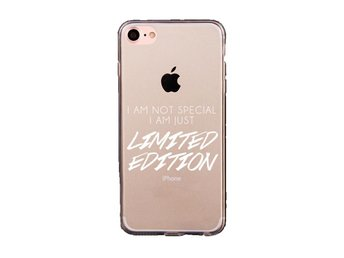 iDiwa Mjukskal transparent  för  iPhone 7 - I am just LIMITED EDITION