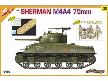 CyberHobby (by Dragon) 1/35 SHERMAN M4A4 75mm BONUS: U.S. TANK CREW - Lund - CyberHobby (by Dragon) 1/35 SHERMAN M4A4 75mm BONUS: U.S. TANK CREW - Lund