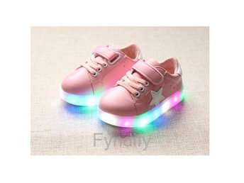 Barnskor Glowing Sneakers LED Strlk 21 Ljusrosa