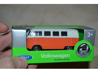 Volkswagen Orange/Vit 1:60 Welly Series NEX Ny