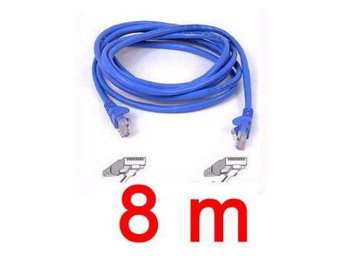NY! 8 Meter 8M Ethernet Network Patch Cable Nätverkskabel