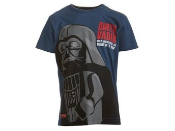 LEGO WEAR T-SHIRT, STAR WARS,'DARTH VADER', BLÅ (128)