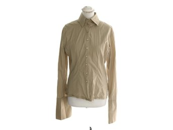 The Shirt Factory, Skjorta, Strl: L, Beige