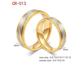 Ring Couple Stainless Steel Metal Engagement Mix Size CR013