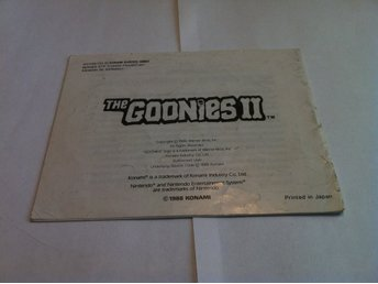 NES: Manualer: The Goonies II (2) (End. manual - Tysk)