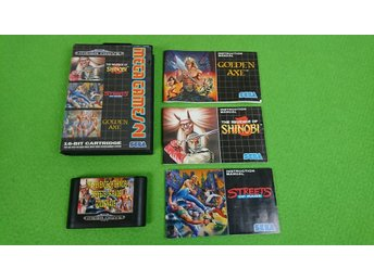 Mega Games 2 Sega Megadrive shinobi , streets of rage ,golden axe
